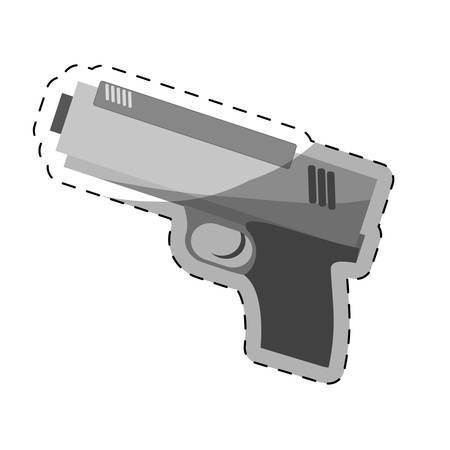 single hand gun icon image vector illustration design Illustration