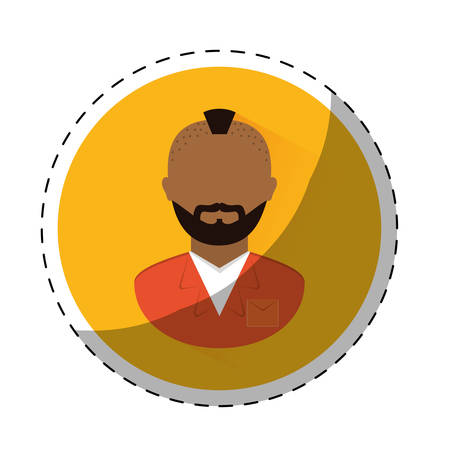 convicted: jail prisoner with dark skin icon image vector illustration design