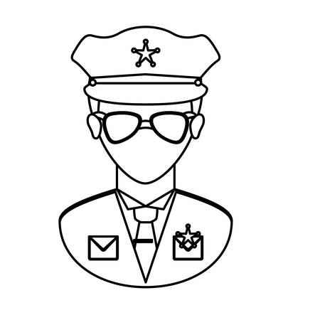 gorra policía: police officer icon image vector illustration design