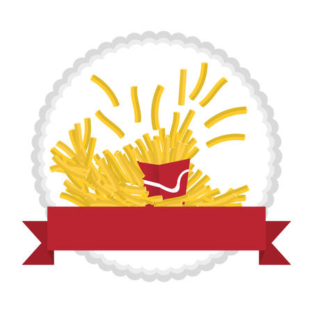 french fries or chips fast food icon image vector illustration design