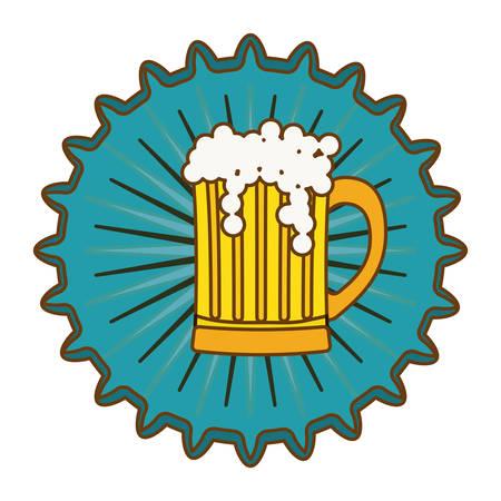 beer cap emblem icon image, vector illustration Illustration