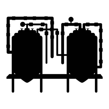 black beer tanks icon image design, vector illustration Illustration