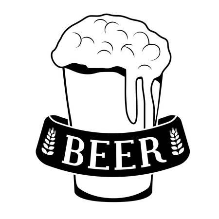 black glass beer icon image design, vector illustration