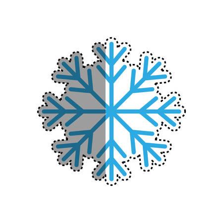 Snowflake winter symbol icon vector illustration graphic design
