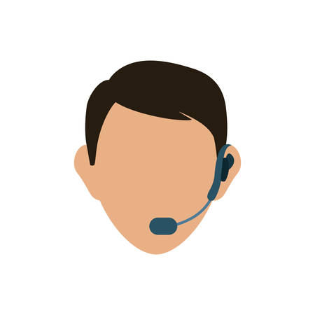 communicator: Call center and customer service icon vector illustration graphic design