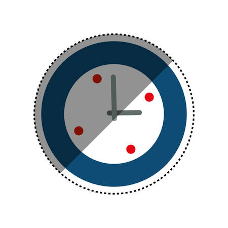seconds: Time clock isolated icon vector illustration graphic design Illustration