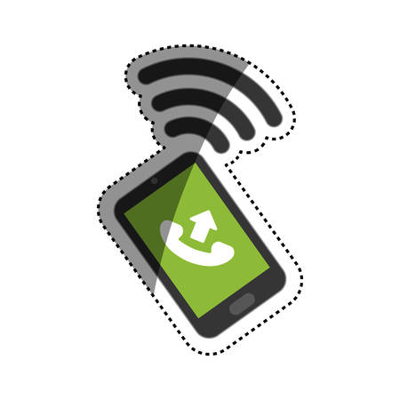 answering: Call answer symbol icon vector illustration graphic design