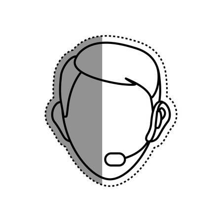 Call center and customer service icon vector illustration graphic design