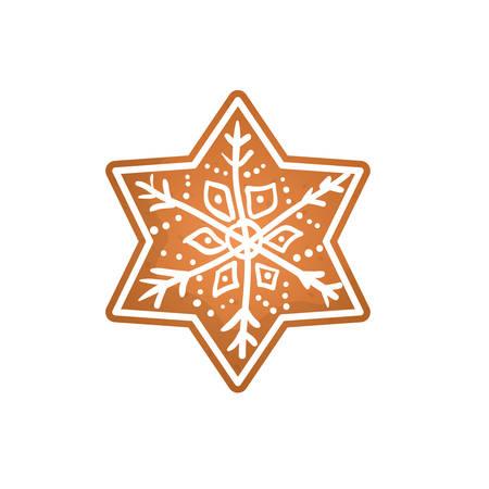 christmas cookie: Christmas decorative symbol icon vector illustration graphic design Illustration
