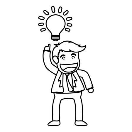 hapiness: Successful businessman cartoon icon vector illustration graphic design Illustration