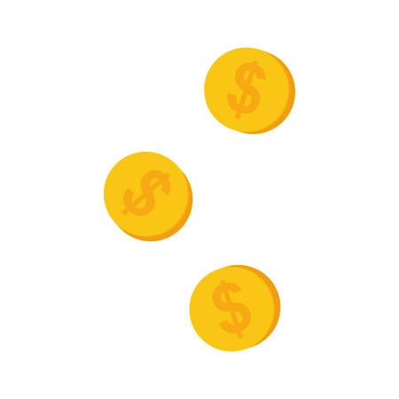Coins money cash icon vector illustration graphic design