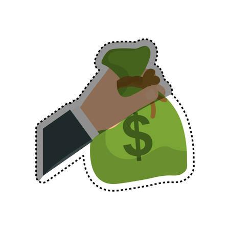 Bag of money icon vector illustration graphic design Illustration