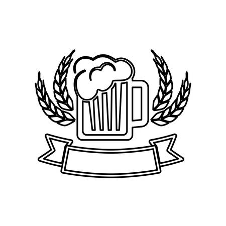 Beer and brewery concept icon vector illustration graphic design Illustration