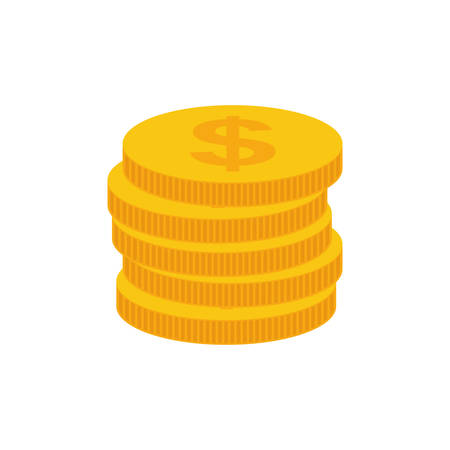 Coins money cash icon illustration graphic design Illustration