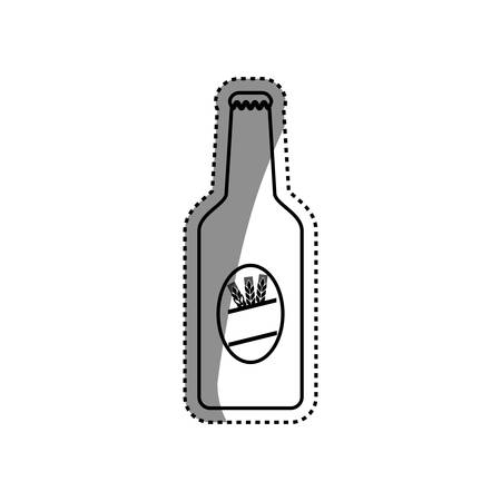 Beer and brewery concept icon illustration graphic design Illustration