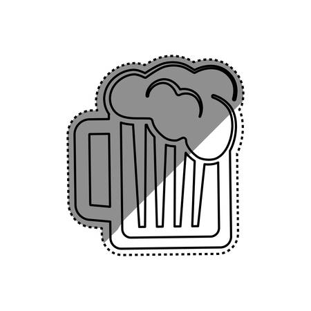 fiambres: Beer and brewery concept icon illustration graphic design Vectores