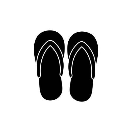 flops: Flip flops sandals icon illustration graphic design