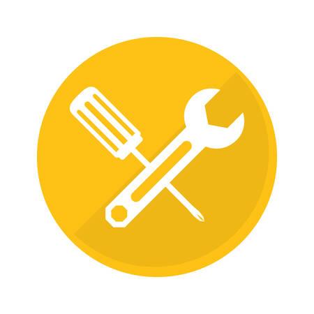 technical workshop stock emblem icon, vector illustration image