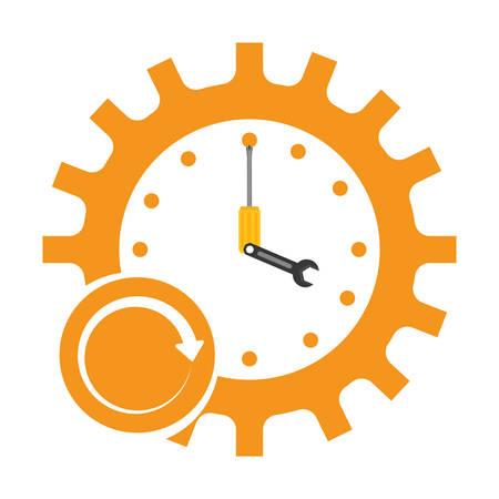 Professionele diensten alle tijd afbeelding, vector illustratie ontwerp Vector Illustratie