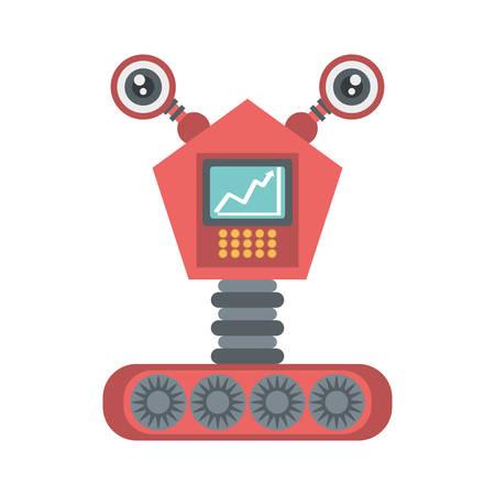 robot electronic mechanical modern vector illustration