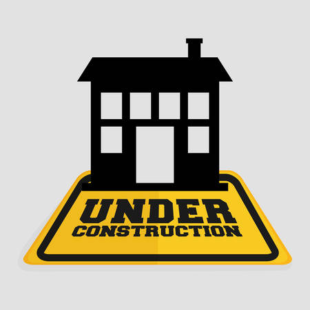 under construction house building real state vector illustration Illustration