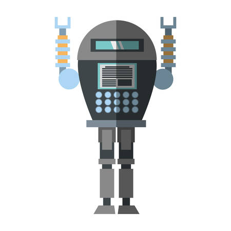 trammel: robotic system engineer shadow vector illustration