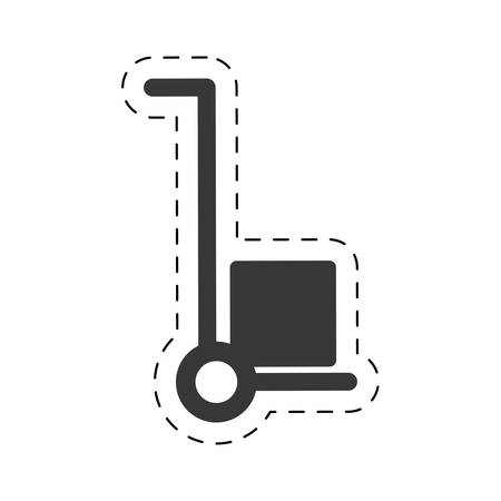 trolley cardboard box delivery cutting line vector illustration eps 10