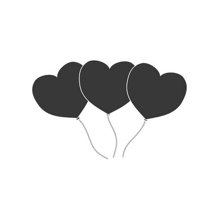 heart balloons love decoration pictogram vector illustration eps 10 Illustration