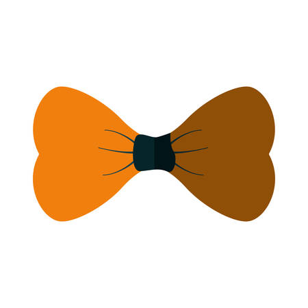 yellow bowtie man father day party shadow vector illustration eps 10 Illustration