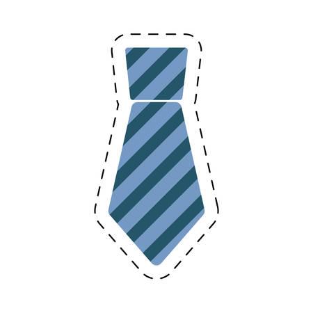 necktie elegant father day cut line vector illustration eps 10