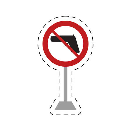 traffic prohibited road gun weapon danger vector illustration eps 10