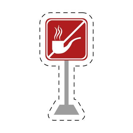 traffic prohibited tobacco pipe smoking vector illustration
