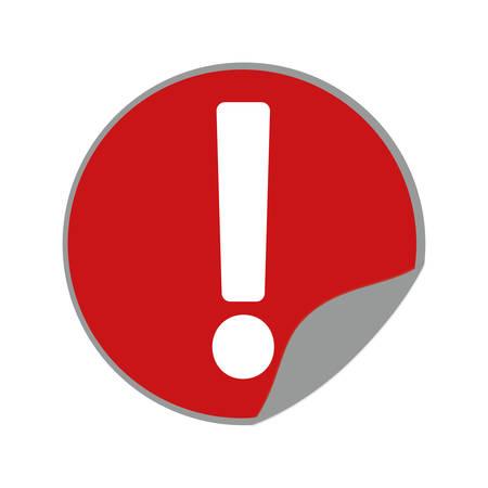 yellow beware: warning alert sign road sticker round vector illustration eps 10 Illustration