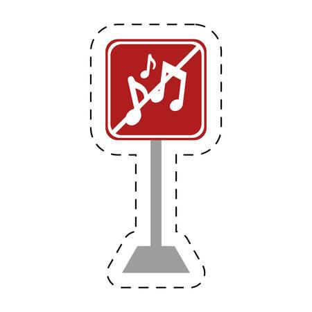 decibel: traffic prohibited music sound vector illustration eps 10 Illustration