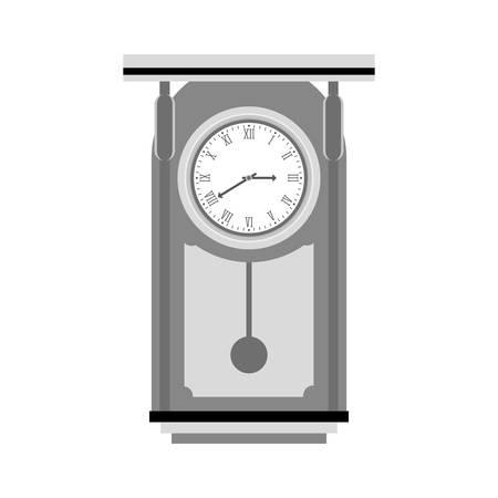 reloj de pendulo: pendulum clock icon image, vector illustration design Vectores