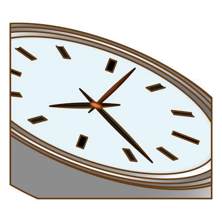 silver wall clock icon image design, vector illustration Illustration