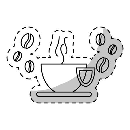 mocca: cup of coffee icon image, vector illustration Illustration