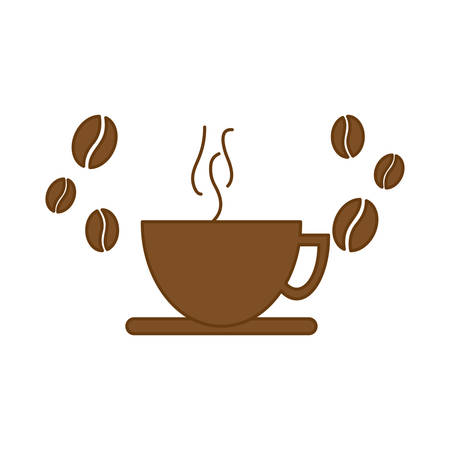 decaf: brown cup of coffee icon image, vector illustration