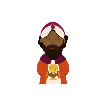 Three wise man cartoon icon vector illustration graphic design Illustration
