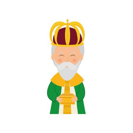 three kings: Three wise man cartoon icon vector illustration graphic design Illustration