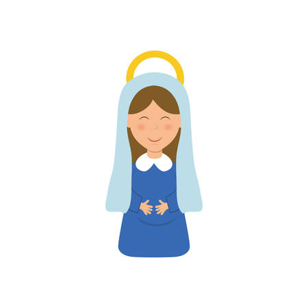 immaculate: Holy virgin mary cartoon icon vector illustration graphic design Illustration