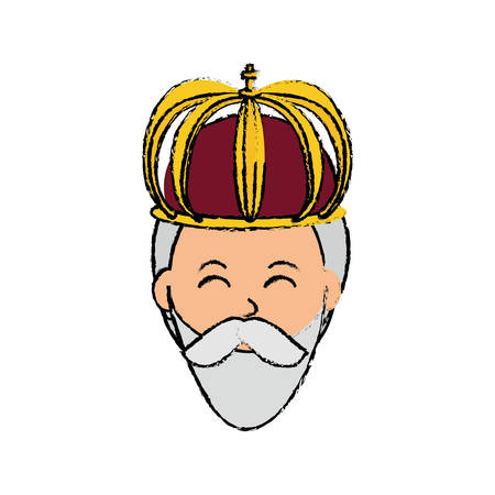 Three wise man cartoon icon vector illustration graphic design Illustration