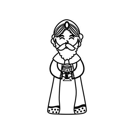 caspar: Three wise man cartoon icon vector illustration graphic design Illustration