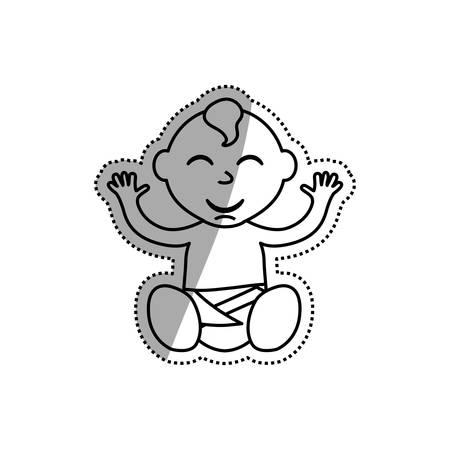 little baby cartoon icon vector illustration graphic design Illustration