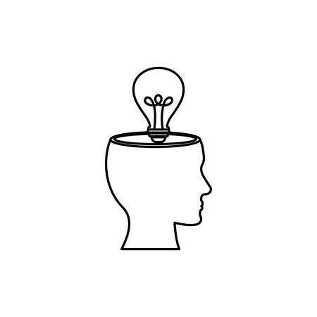 Bombilla de luz de energía icono ilustración vectorial de diseño gráfico