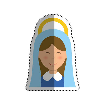 Holy virgin mary cartoon icon vector illustration graphic design Illustration
