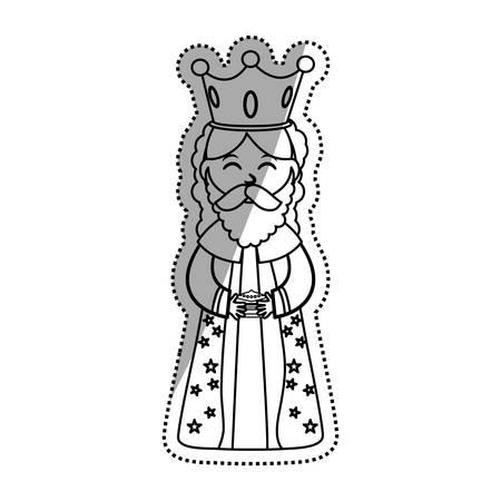 israel people: Three wise man cartoon icon vector illustration graphic design Illustration
