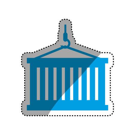 Delivery and logistics icon vector illustration graphic design
