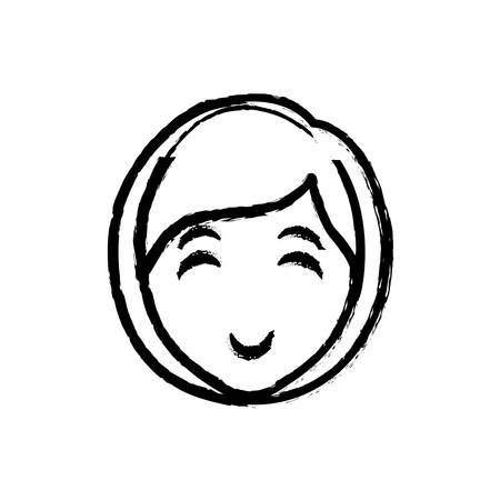 woman face cartoon icon vector illustration graphic design