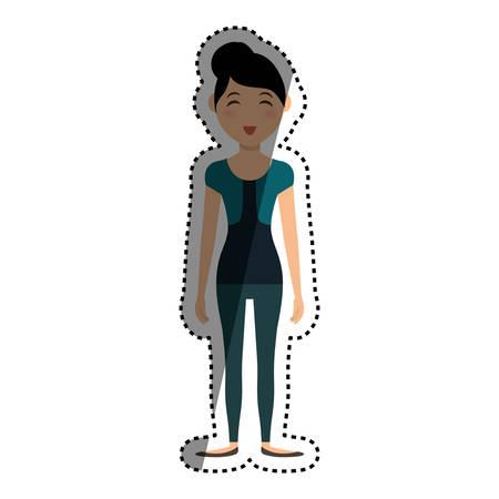 Woman cartoon isolated icon vector illustration graphic design Illustration